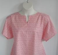Image Gracie Shirt - Coral Rose Floral