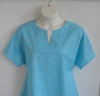 Image Gracie Shirt - Turquoise Floral Vine