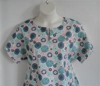 Image Gracie Shirt - Coral/Mint Medallion Floral