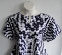 Image Gracie Shirt - Navy/White Chevron