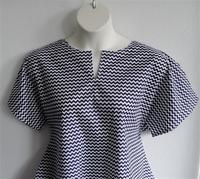 Image Gracie Shirt - Navy/White Chevron