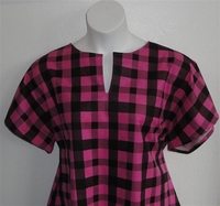 Image Gracie FLANNEL Shirt - Pink/Black Plaid