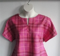 Image Gracie FLANNEL Shirt - Pink/Peach Plaid