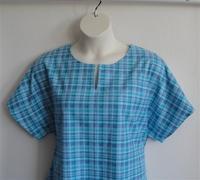 Image Gracie FLANNEL Shirt - Aqua/Purple Plaid