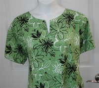 Image Gracie Shirt - Lime Green Floral Poly
