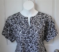Image Gracie Shirt - Black/White Floral 1