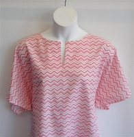 Image Gracie Shirt - Pink Chevron 2