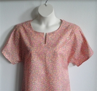 Image Gracie Shirt - Pink/Yellow Floral Poly