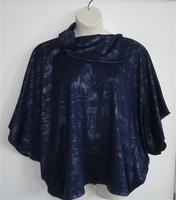 Image Katie Side Opening Shirt - Navy/Silver Foil