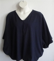 Image Kiley Side Opening Shirt - Navy Cotton Knit