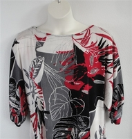 Image Libby Shirt - Red/Black Tropical Acetate Blend Knit