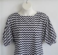 Image Libby Shirt - Black/White Chevron