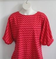 Image Libby Shirt - Red Chevron