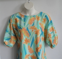 Image Libby Shirt - Teal/Orange/Yellow Tropical