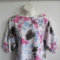 Image Libby Shirt - Pink/Blue/Brown Tie Dye French Terry
