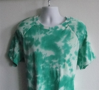 Image Unisex/Men Shirt (Men's Sizes) - Green Tie Dye
