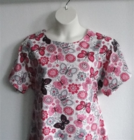 Image Orgetta FLANNEL Nightgown - Pink/Gray Butterfly
