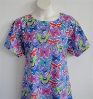 Image Orgetta FLANNEL Nightgown - Purple Butterfly