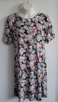Image Orgetta Nightgown - Rust/White/Blue Floral Knit