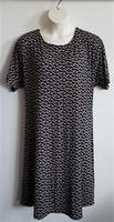 Image Orgetta Nightgown - Black/White Floral Rayon Knit