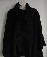 Image Riley Cape/Poncho - Mocha Brown - Chenille Fleece Sweater