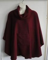 Image Riley Cape/Poncho -Burgundy - Chenille Fleece Sweater