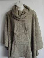 Image Riley Cape/Poncho -Tan - Chenille Fleece Sweater