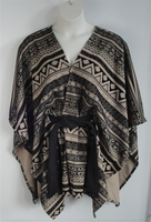 Shandra Cape - Black/Tan Aztec Ponte