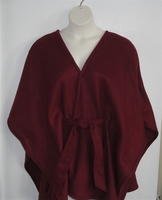 Shandra FLEECE Cape - Burgundy