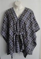 Image Shandra FLEECE Cape - Gray Plaid
