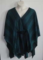 Image Shandra Cape - Teal/Black Chevron Sweater Knit