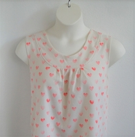 Image Sara Shirt - Coral Hearts French Terry