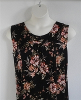 Image Sara Shirt - Rust/Black Floral Rayon Knit