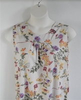 Image Sara Shirt - Yellow/Purple/Cream Floral Rayon Knit