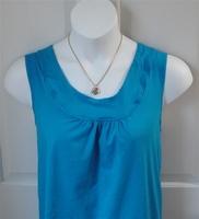 Image Sara Shirt - Turquoise Cotton Knit