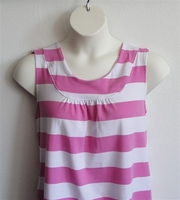 Image Sara Shirt - Pink/White Stripe Cotton Knit