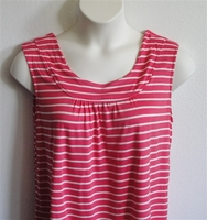 Image Sara Shirt - Red/White Stripe Rayon Knit