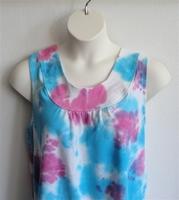 Image Sara Shirt - Turquoise/Pink Tie Dye Cotton Knit