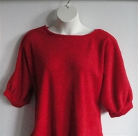 Image Jan Sweater - Red Chenille Fleece Sweater Knit