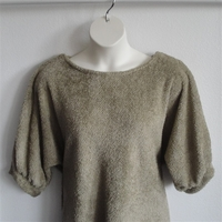 Image Jan Sweater - Tan Chenille Fleece Sweater Knit