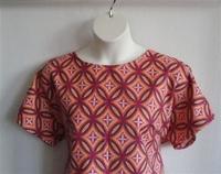 Image Tracie FLANNEL Shirt - Pink/Yellow Geometric
