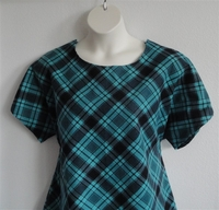 Image Tracie FLANNEL Shirt - Teal Plaid