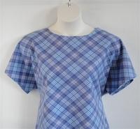 Image Tracie FLANNEL Shirt - Denim Blue Plaid