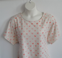 Image Tracie Shirt - Coral Hearts French Terry
