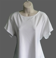 Image Tracie Shirt - White Nylon Knit
