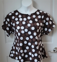 Image Tracie Shirt - Brown Dot Cotton Knit