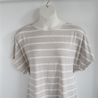 Image Tracie Shirt - Tan Stripe Rayon Knit