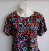 Image Tracie Shirt - Rainbow Aztec Rayon Knit (XS, M, L & 3X only)