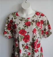 Image Tracie Shirt - Red Rose Rayon Knit