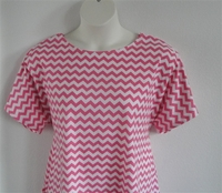 Image Tracie Shirt - Pink/White Chevron Cotton Knit
